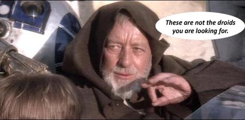 Это не те дроиды, которых вы ищете