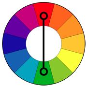 Колесо для подбора контрастных цветов