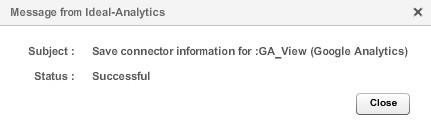 Далее связываем аккаунт Google с Ideal Analytics, после чего появится сообщение, что соединение настроено