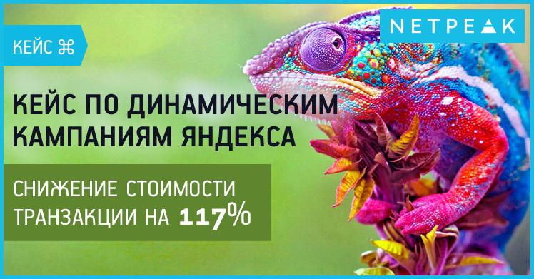 Кейс по динамическим кампаниям Яндекса — снижение стоимости транзакции на 117%