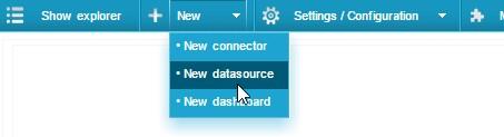 На основе созданных подключений добавляем источник данных
