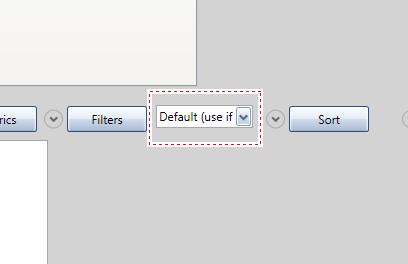 Для выбора расширенных сегментов воспользуйтесь выпадающим списком, расположенным справа от кнопки Filters