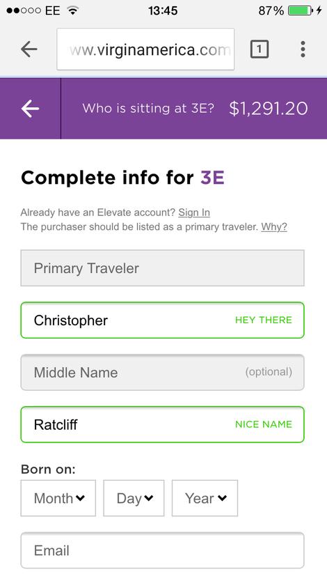 Уже при регистрации пользователь автоматически получает несколько приятных комплиментов :)