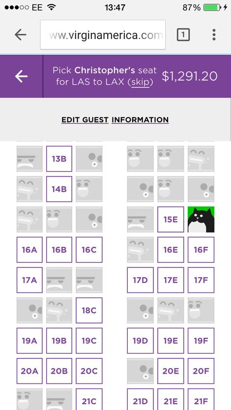 При бронировании мест можно выбрать индивидуальный аватар