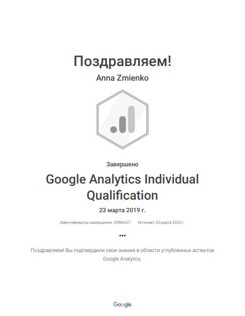 Анна anita — Google Analytics