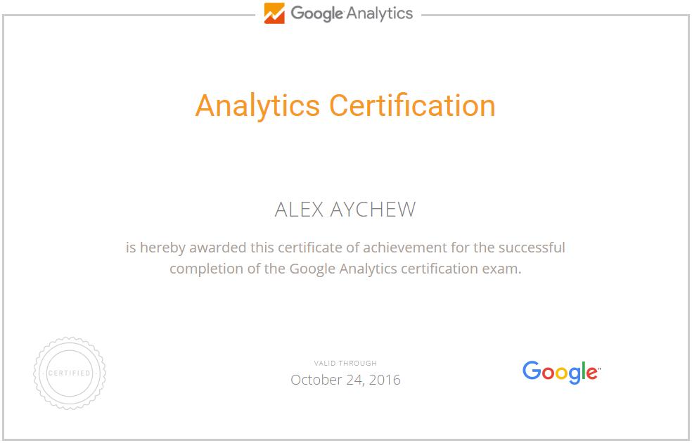 Алекс BRainy — Google Analytics