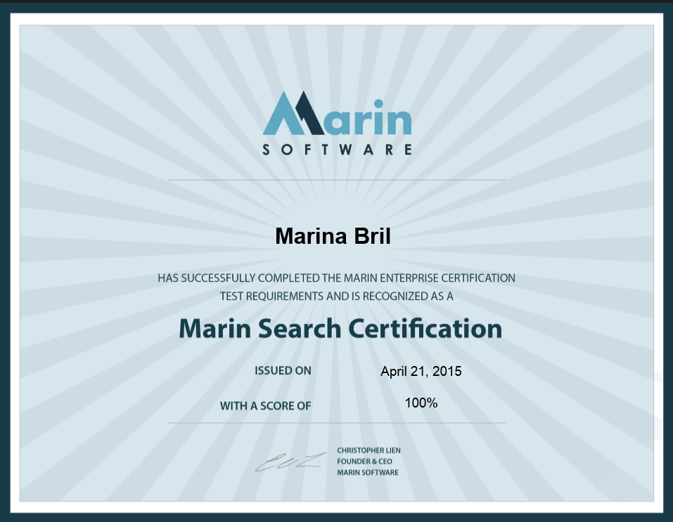 Марина bril — Marin Software