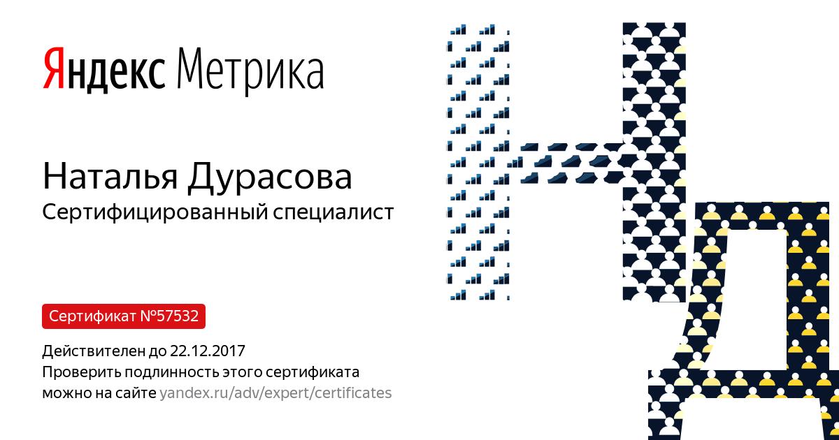 Наталья durasova — Yandex.Metrica