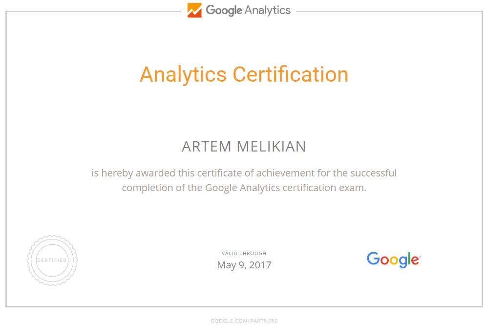 Артём melik — Google Analytics