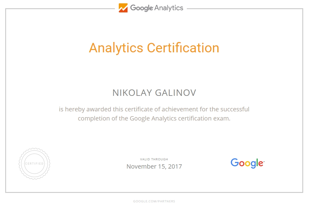 Николай niki — Google Analytics