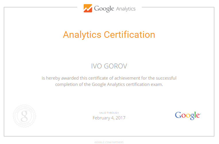 Иво NoGooD — Google Analytics