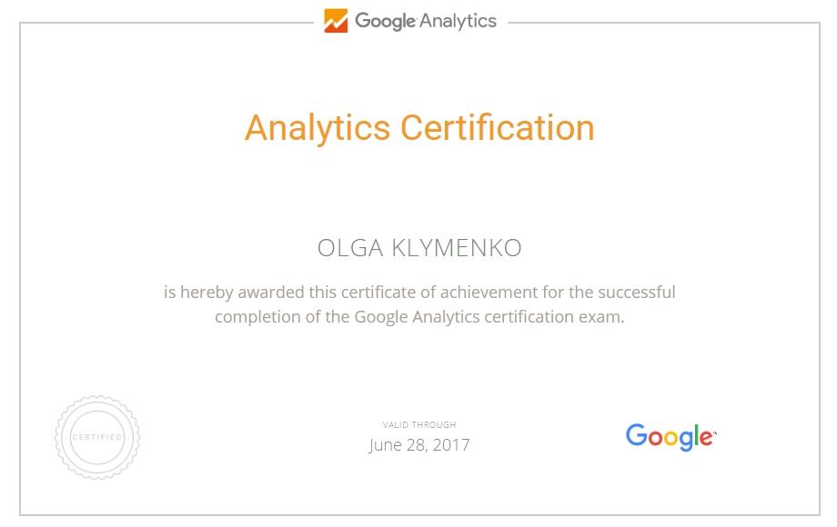 Ольга ololo — Google Analytics