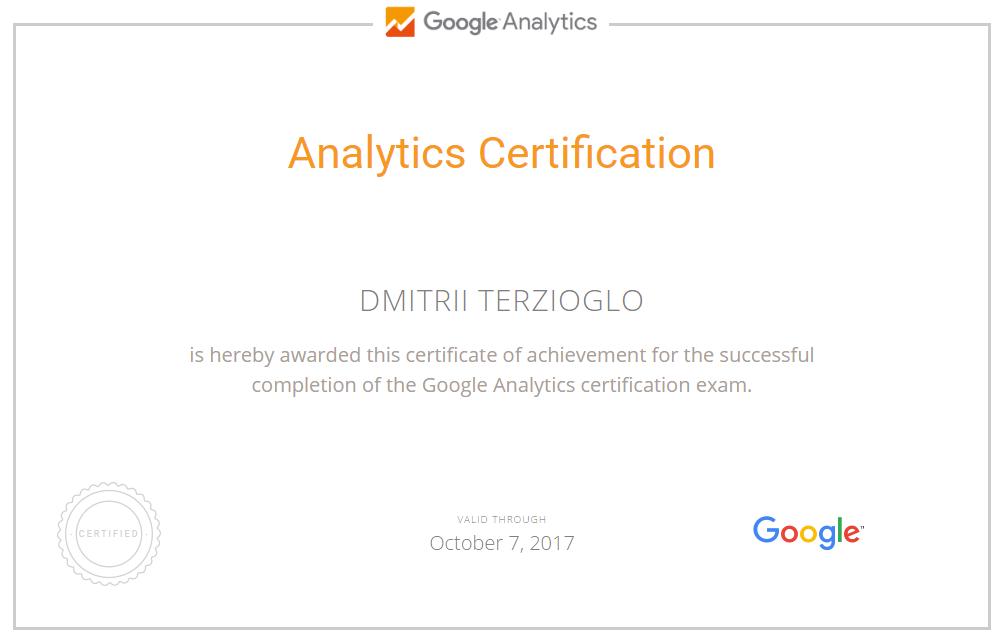 Дмитрий terzik — Google Analytics