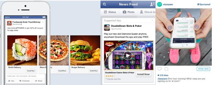 Пример таргетированной рекламы в Facebook и Instagram