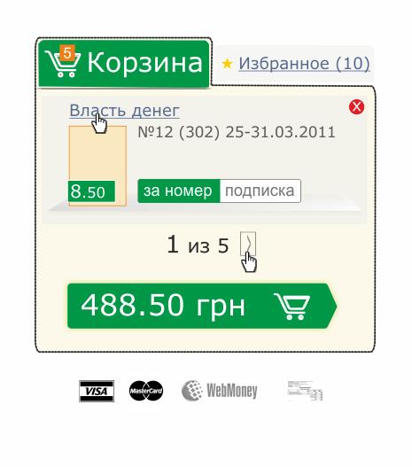 Кнопка с суммой символизирует переход на страницу с оформленим заказа