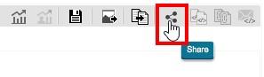 Чтобы поделиться панелью мониторинга, воспользуемся кнопкой «Share»