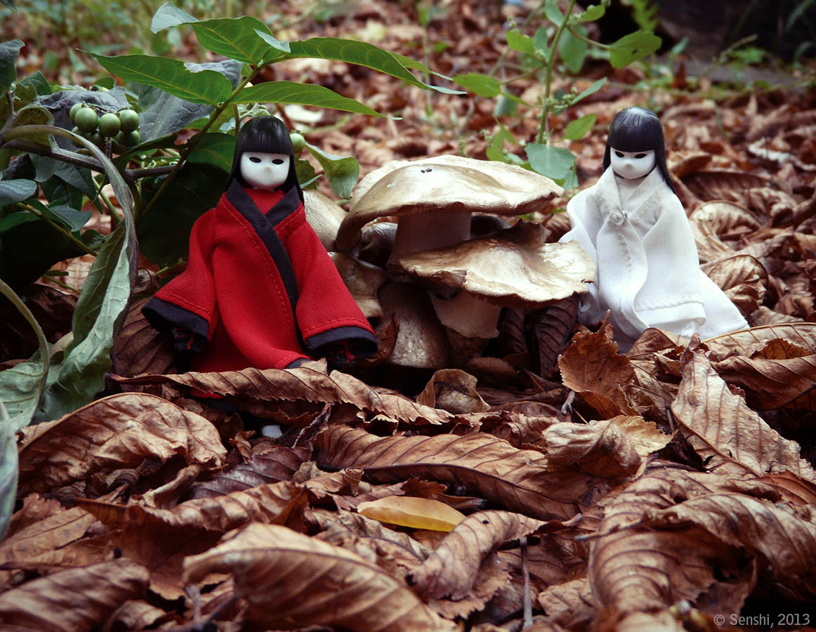 Осенние куклы-кокэси — на удачу. Автор фото — Александра Стальская.