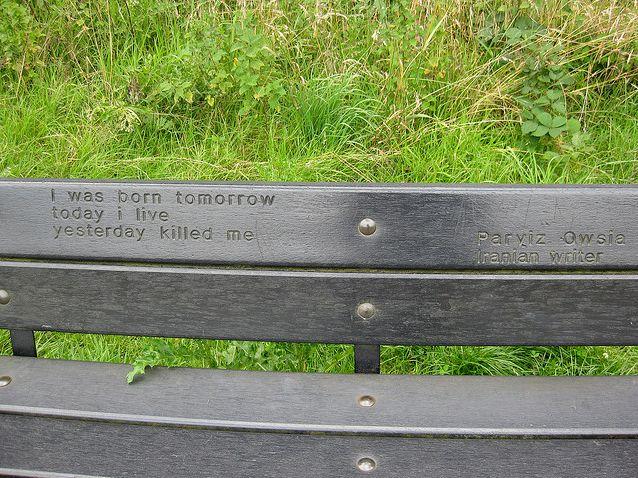 Стихотворение на шотландской скамейке