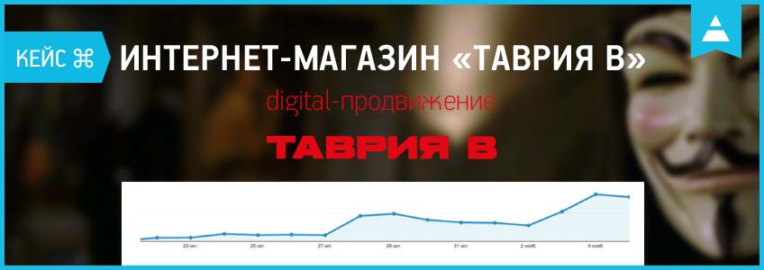 «В» — значит… Кейс digital-продвижения интернет-магазина «Таврия В»