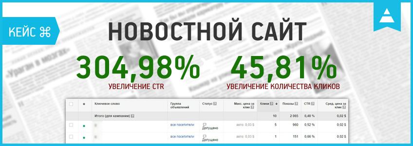 Кейс по контекстной рекламе новостного сайта: качественный трафик за 0,02$.