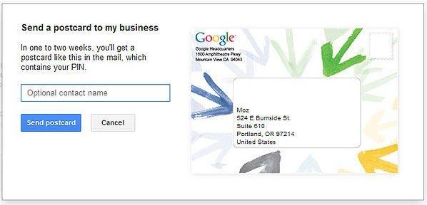 Подтверждение локальной+страницы для вашего бизнеса