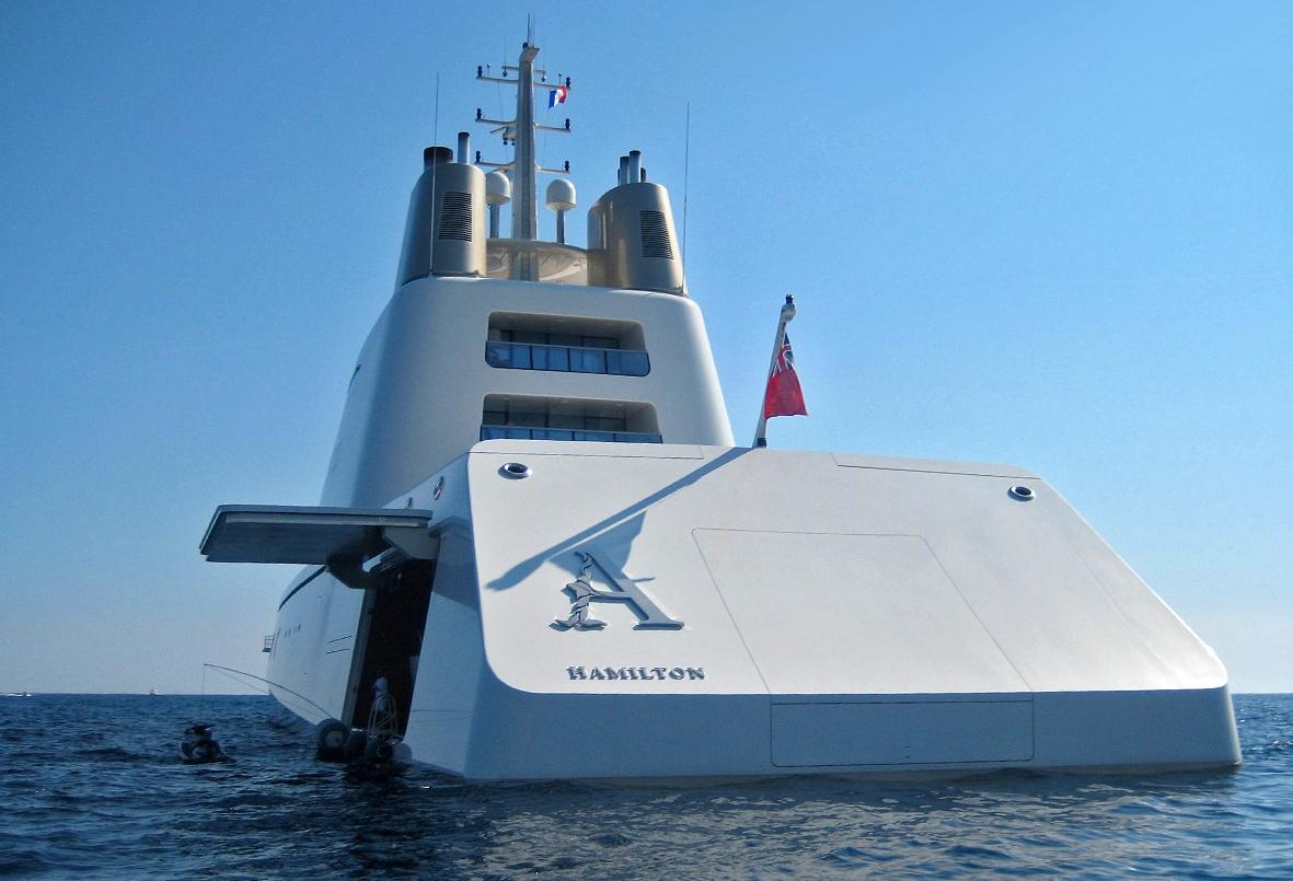 Дизайн яхты, разработанный Филиппом Старком