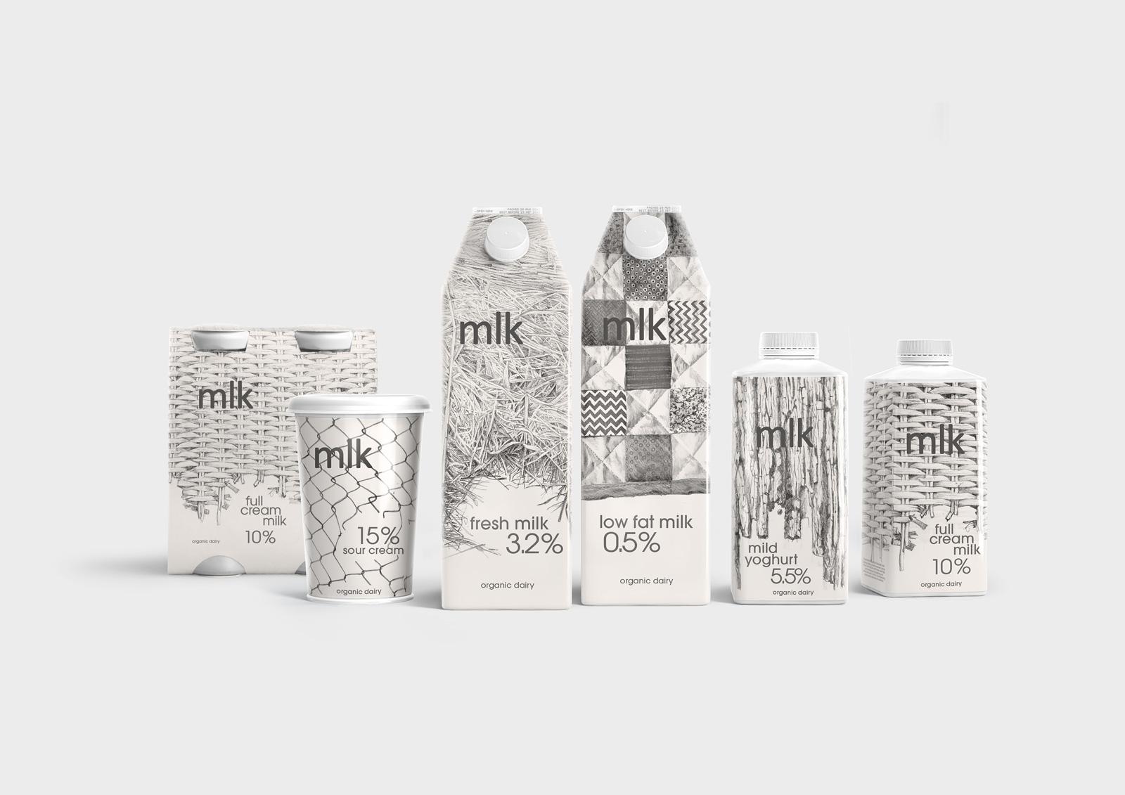 Упаковка mlk для продукции компании «Продмол»