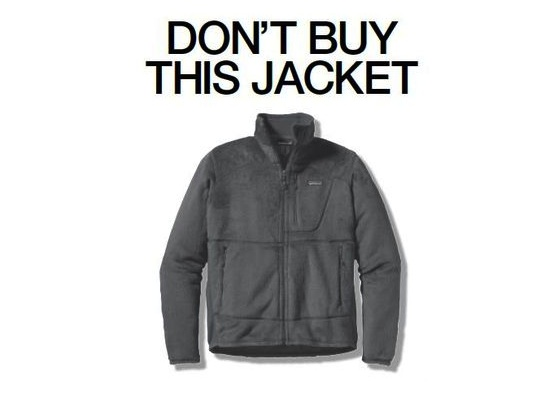 "рекламная кампания Patagonia ""don't buy this jacket"""