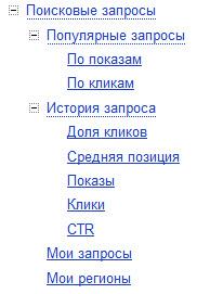 поисковые запросы Яндекс.Вебмастер