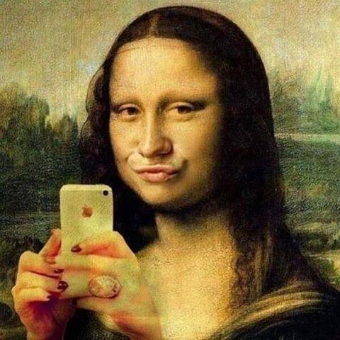 Селфи Мона Лиза