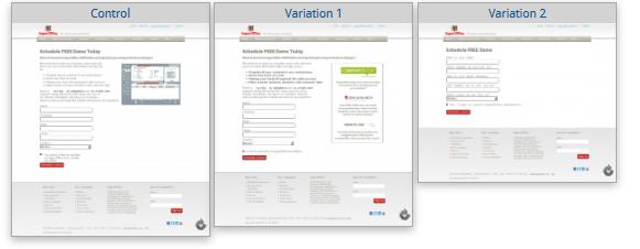 форма заказа на сайте компании SuperOffice CRM