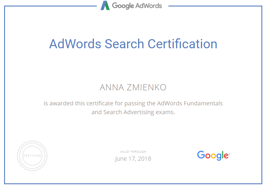 Анна anita — Google AdWords