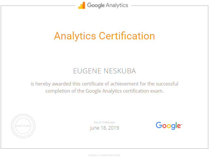 Евгений ben — Google Analytics