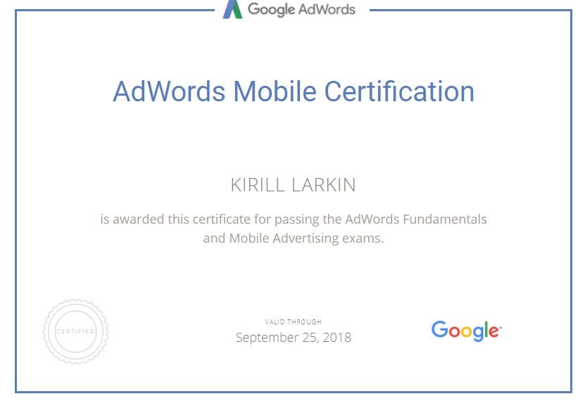 Кирилл berserk — Google AdWords