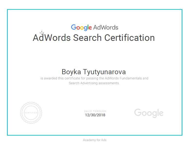 Boyka bobbynt – Google AdWords