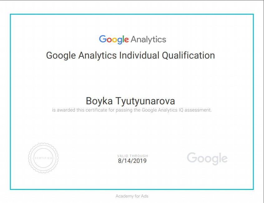 Boyka bobbynt – Google Analytics