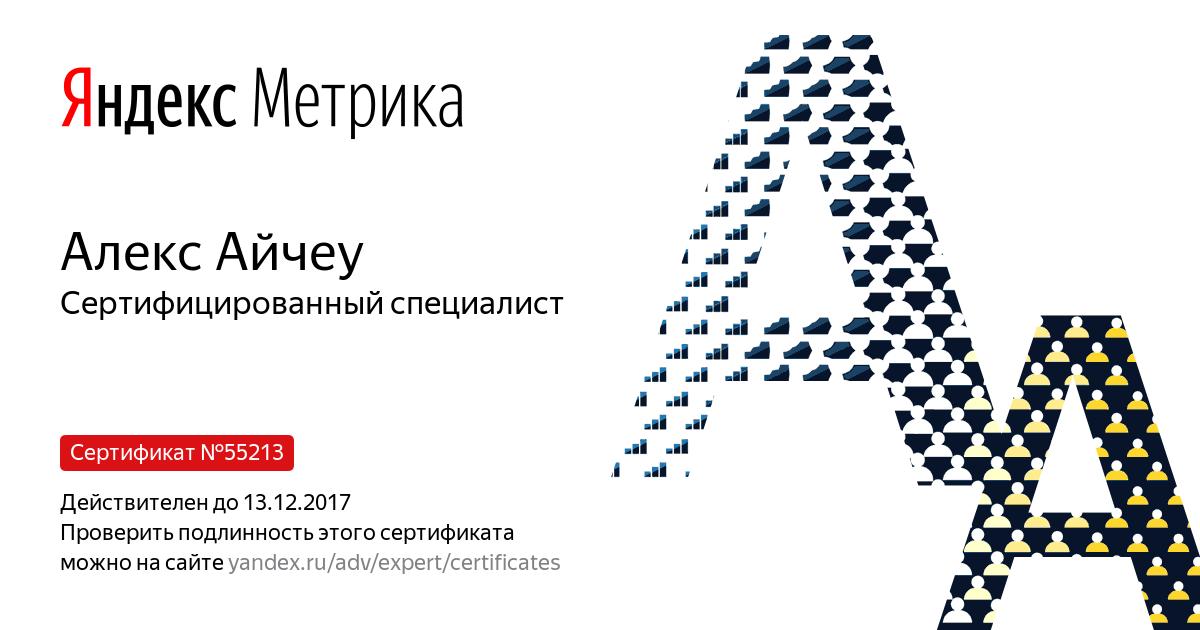 Алекс BRainy — Yandex.Metrica