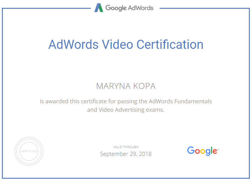 Marina Brook – Google AdWords