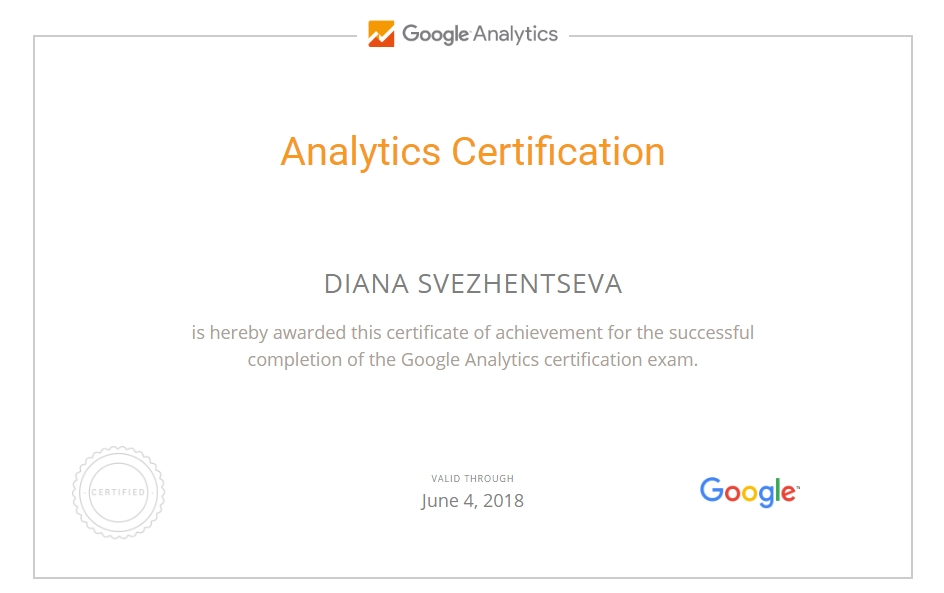 dianasw — Google Analytics