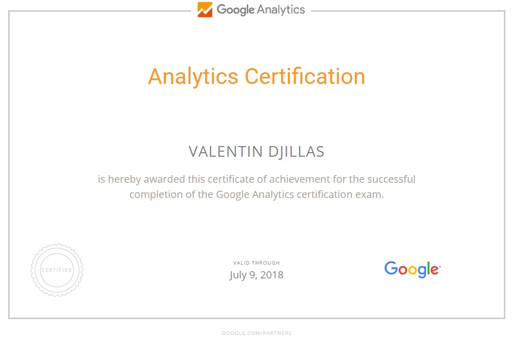 Valentin djillas – Google Analytics