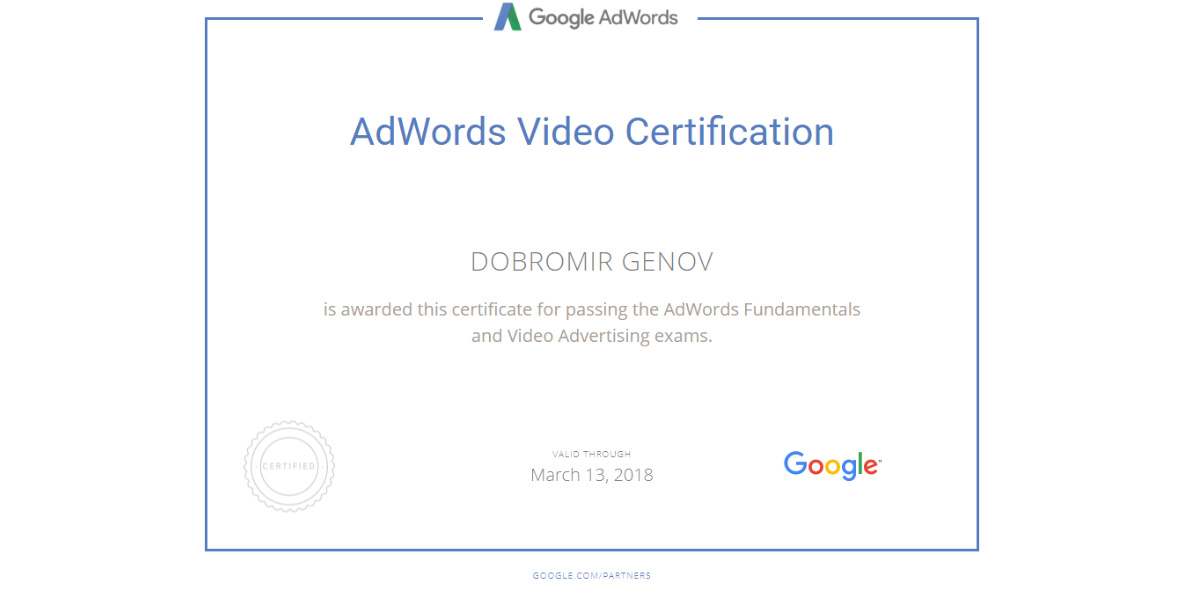 DoDo — Google AdWords