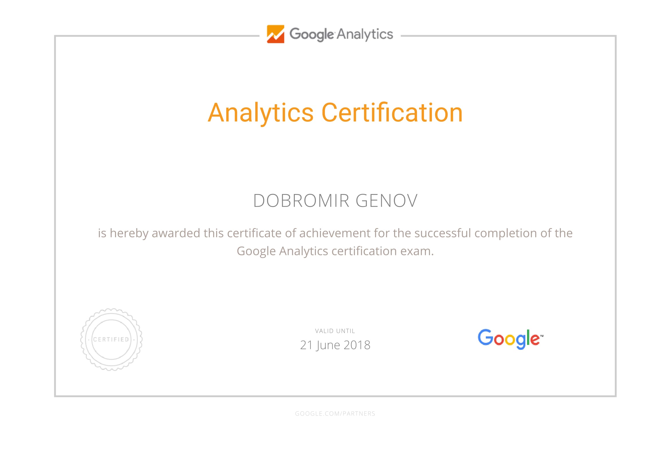 DoDo — Google Analytics