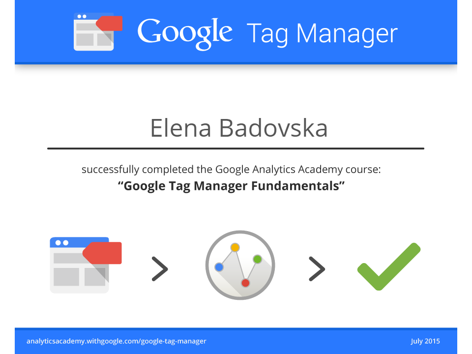 Olena Eagle – Google Tag Manager
