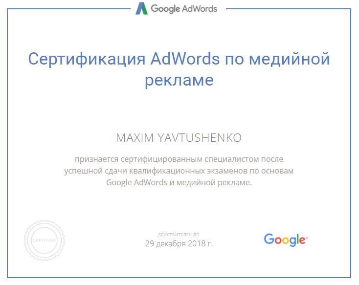 Maxim Ekzy – Google AdWords