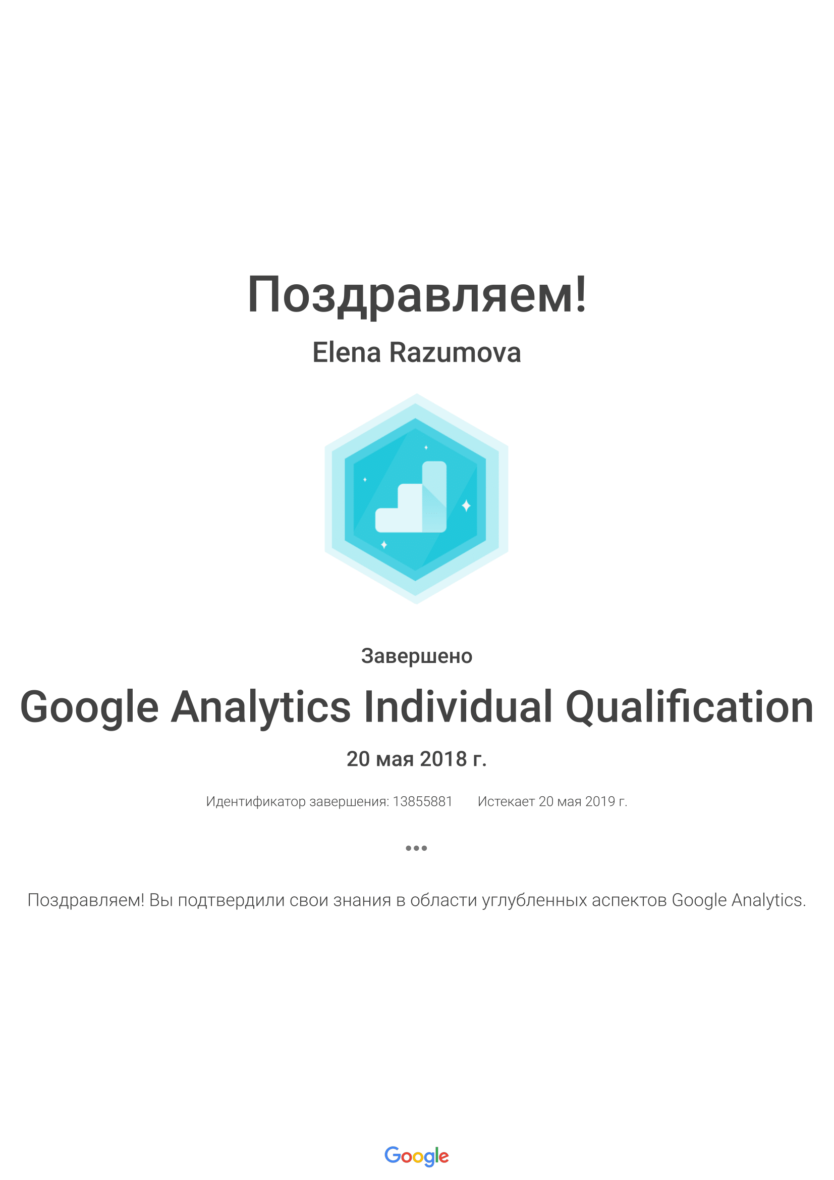 Elena elkris – Google Analytics