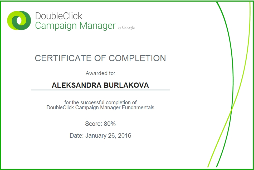 Oleksandra Fenix – DoubleClick