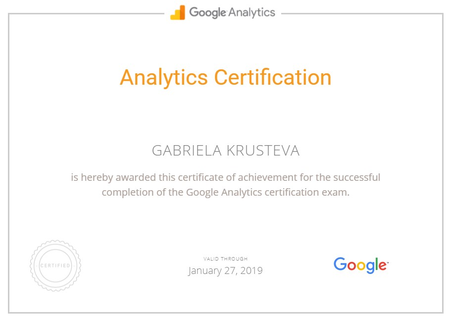 Gabi — Google Analytics