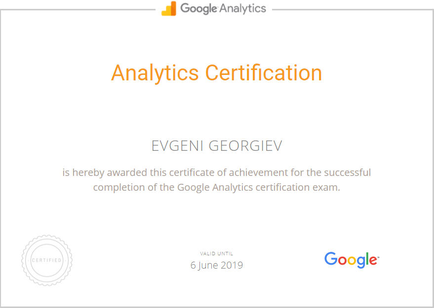 georgiev — Google Analytics