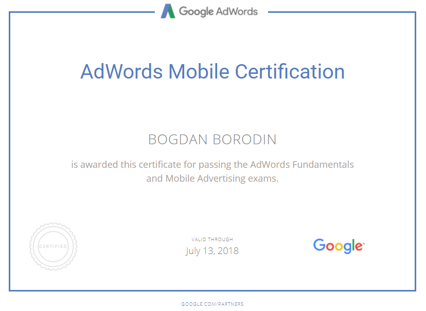 Богдан jisbob — Google AdWords
