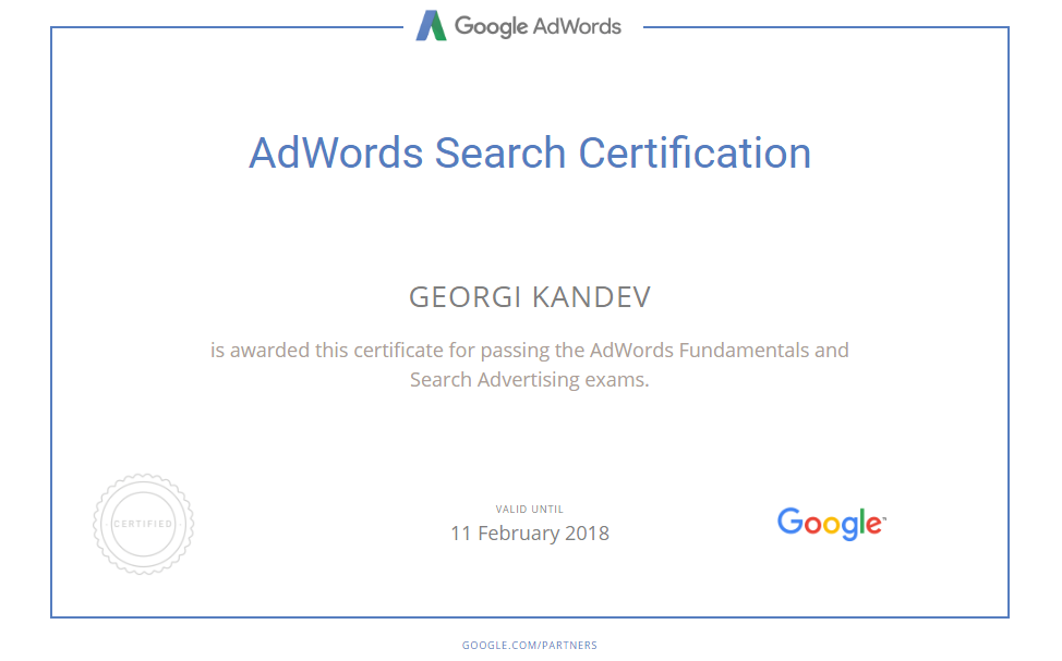 Georgi kandeto – Google AdWords